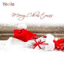 Yeele Christmas Photocall Bokeh Snow Hats Wood Gift Photography Backdrops Personalized Photographic Backgrounds For Photo Studio цена