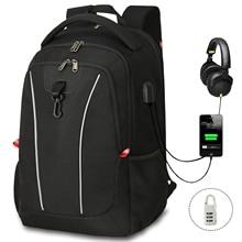 Laptop Backpack Reflective-Strip Rucksack Notebook Waterproof Anti-Theft School Man Men