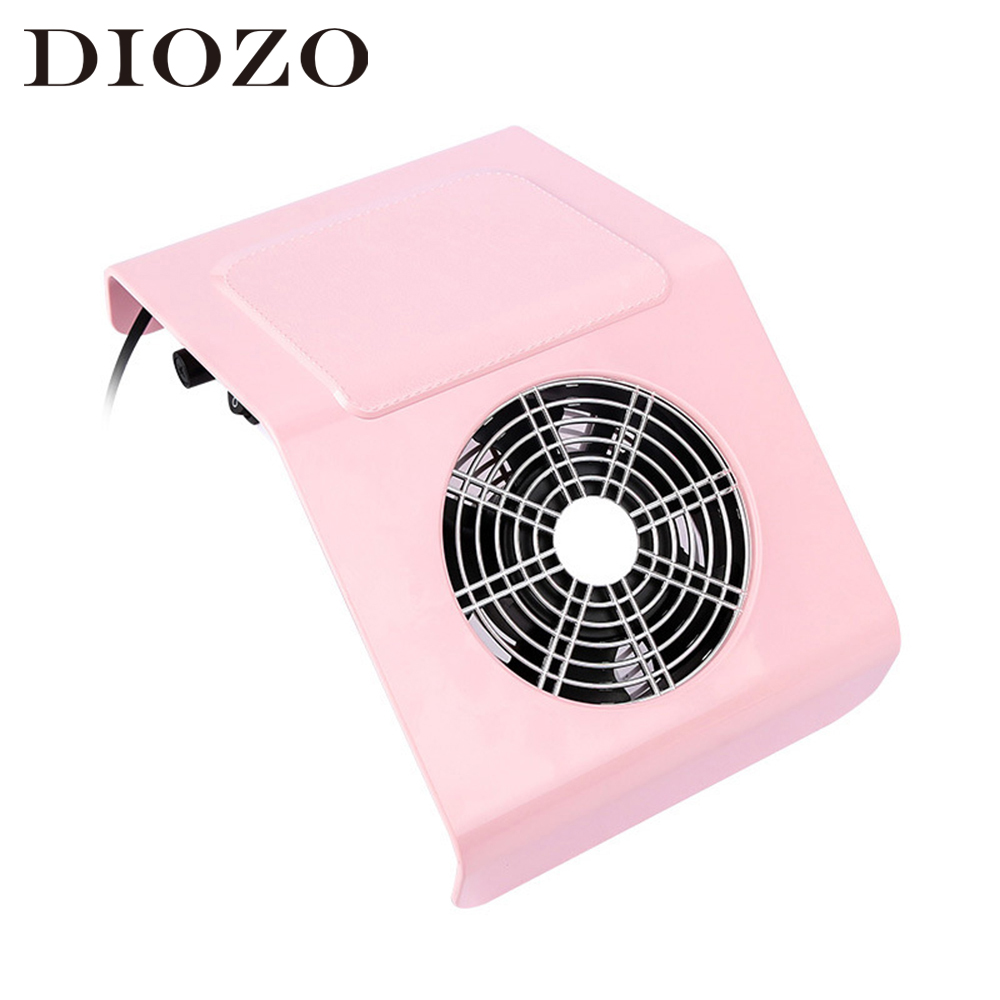 DIOZO 40W Nail Vacuum Cleaner Machine Strong Fan Nail Suction Dust Collector with 2 Dust Collecting Bags Nail Art Manicure Tools