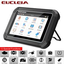 Eucleia s7c obd2 automotivo scanner ferramenta de diagnóstico suporte motor/abs/airbag/transmissão/epb para todos os sistemas de controle elétrico