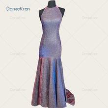 Блестящий Платье на бретелях Русалка Вечерние платья 2021 блестящее