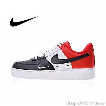 Original Authentic Nike Air Force 1 Low Mini Swoosh Men's Skateboarding Shoes Sport Outdoor Sneakers 2018 New Arrival 823511-603 недорого