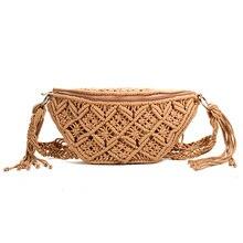 Talia torba bawełniana tkana na zewnątrz portfel letnia nowa dzika osobowość modna torebka
