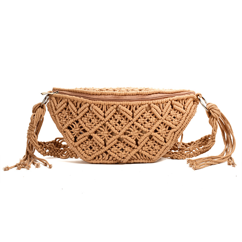 Waist Bag Cotton Woven Outdoor Wallet Summer New Wild Personality Fashion Handbag