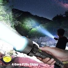 Lampe de poche tactique la plus puissante XHP70S, torche à main Rechargeable par USB, imperméable, pour l'extérieur, 300000 LM