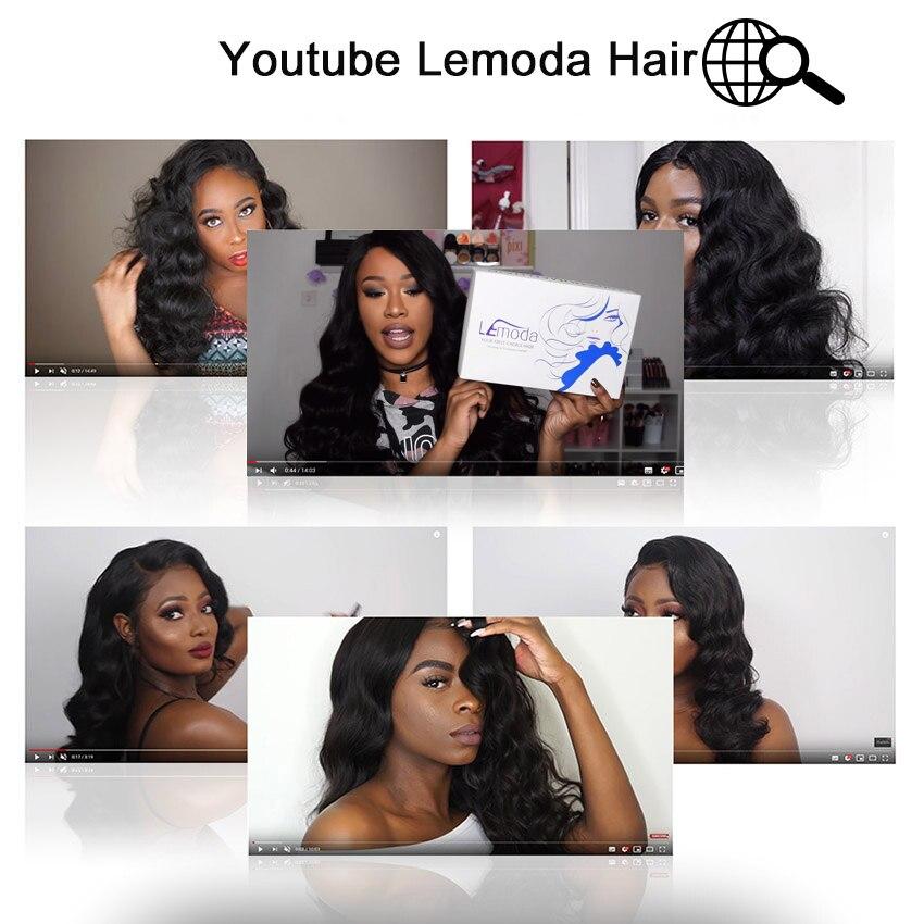 H3ef05f1ed5fb483fa5bc9c22692d678eQ 26 Inch Body Wave Wig Malaysian 4x4 Closure Wig Preplucked Natural Human Hair High Ratio Lemoda 150% Remy Hair Lace Closure Wig