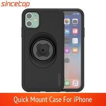 Taille Riemclip Fiets Telefoon Houder Met Quick Mount Case Voor Iphone 11 Pro Xsmax 8 Plus 7 6 6S 5S Se Bike Mount Zwart