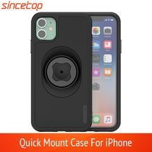 Waist Belt Clip Bicycle Phone Holder with Quick Mount Case for iphone 11 pro XsMax 8 Plus 7  6 6s 5s SE Bike Mount Black