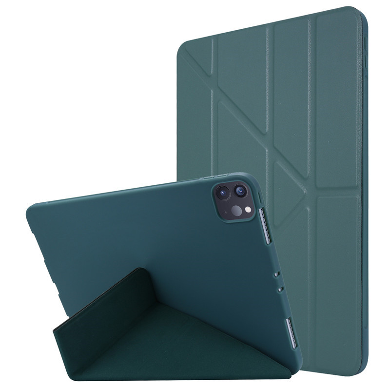 Green Black Case Cover For iPad Pro 11 2020 Case PU Leather Smart Cover Soft Back Protective Case