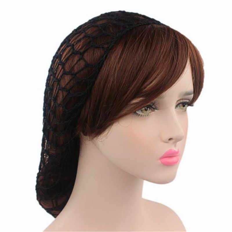 1 PC Handmade ทอ Professional Hairnet สีทึบผู้หญิงเลดี้นุ่มเรยอนวิกผม Snood ผมโครเชต์สุทธิหมวกถักหมวก hairnet ใหม่