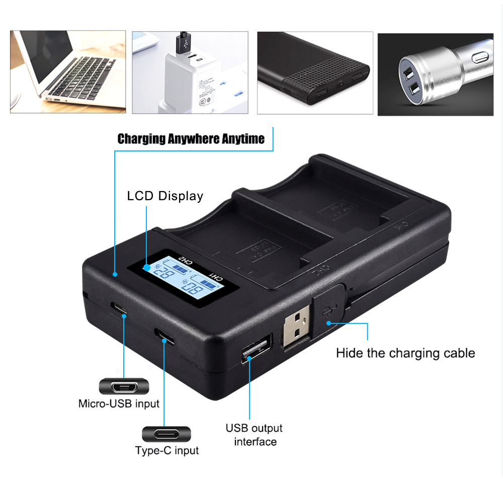 LP-E5 LPE5 LP E5 Rechargeable Battery Charger For Canon EOS 450D 500D 1000D Kiss X3 Kiss F Rebel Xsi 4.7 Kiss X2 T3 T5 image