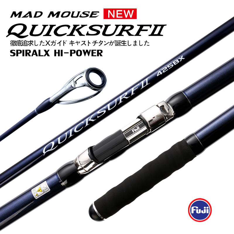MADMOUSE 2020 NEW Model QUICK SURF Japan Quality Full Fuji Surf Rod 4.25M 46T high-carbon 3 Sections BX Surf casting rods-0