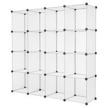 【US Warehouse】Cube Storage 16-Cube Book Shelf Storage Shelves Closet Organizer Shelf Cubes Organizer Bookcase