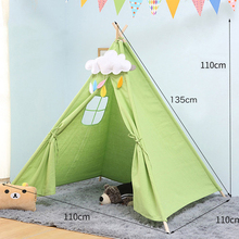 Baby Tents Portable Foldable Game Teepee Cartoon Cute Indian Childrens Tent Outdoor Kids Play House Canvas Cotton Triangle Tipi