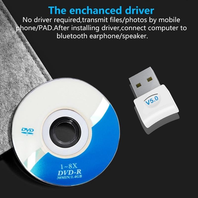 IsMyStore: Computer Bluetooth Adapter 5.0USB Desktop Dongle Wireless WiFi Audio Receiver Transmitter (White)