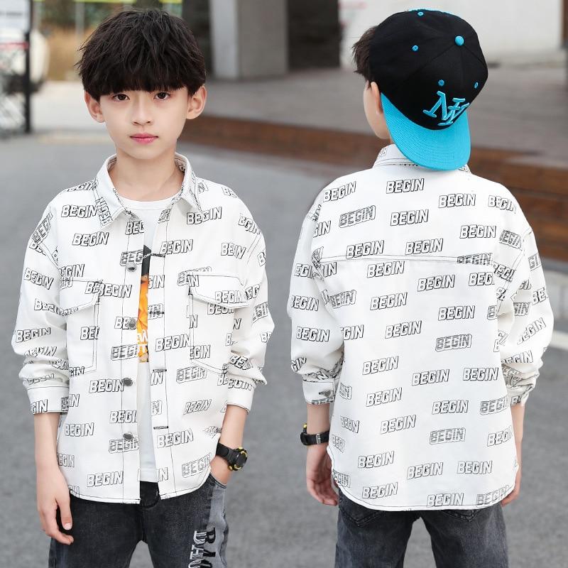 Boys Fashion Printed-Pattern Shirts