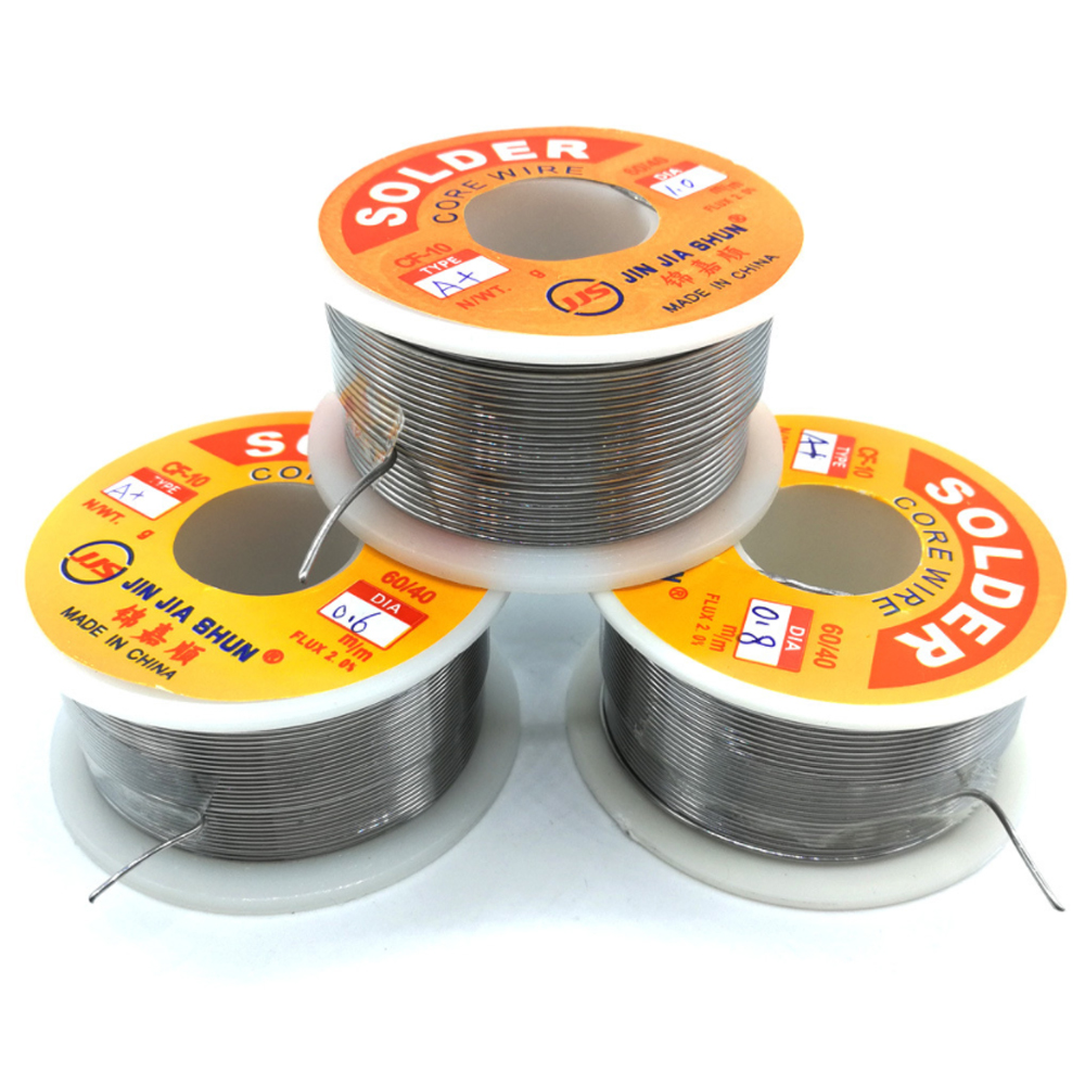 5 Rolls lot Low Temperature Solder Wire High Activity Low Melting Point Tin Wire 100g 0 6 0 8 1 0mm 6040 Purity