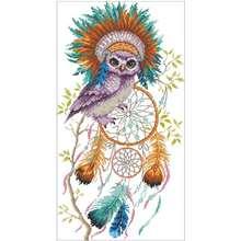Вышивка в виде совы Ловец снов 11ct 14ct 18ct сделай сам наборы