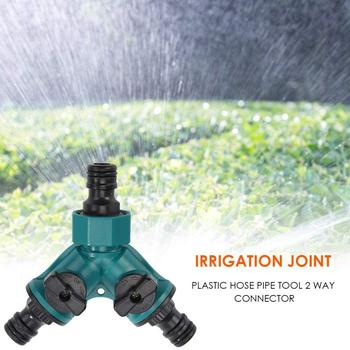2-way Garden Irrigation Hose Coupler Connecting Devices Outlet Y Shape Adapter Garden Water Connectors Watering Watering garden hose splitter connectors attachments two way outdoor adapter rubber washers watering