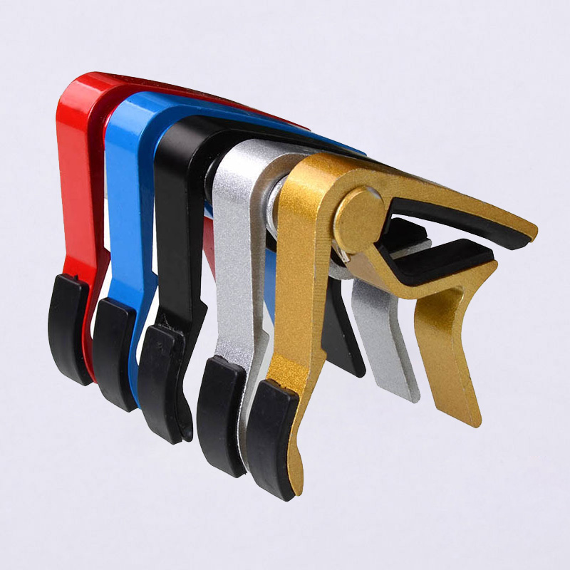 Multi Color Classic Folk Acoustic Electric Tune Quick Change Trigger Guitar Capo Key Clamp