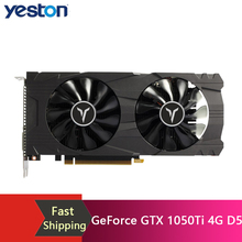 Yeston GeForce GTX 1050Ti 4G D5 GAEA Graphic Card with 1291-1392MHz/7008MHz 4GB/128Bit/GDDR5 Memory Gravity Cooling System