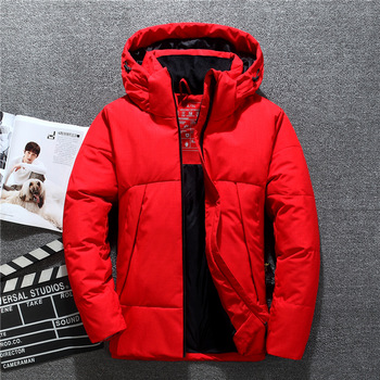 Mens Hooded Duck Down Jackets Man Thick Winter Down Coats Male Fashion High Quality Overcoats Keep Warm Parkas Outerwear JK-918