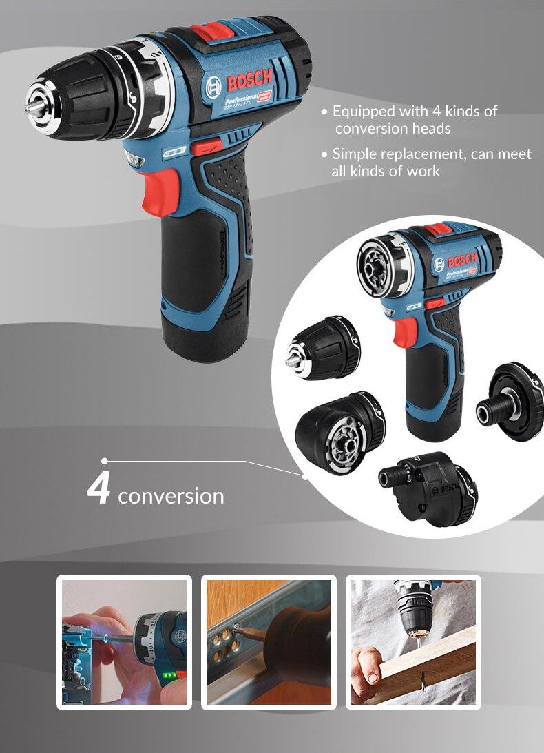 Bosch GSR12V Cordless Drill 123