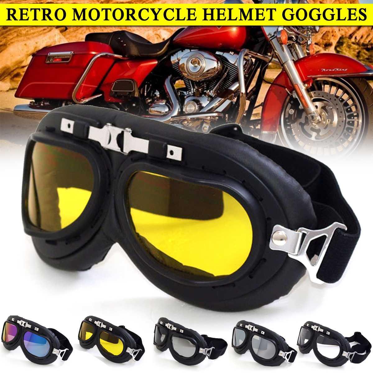 Universal Motorcycle Goggles Glasses Vintage Helmet Glasses Goggle Biker ATV Cycling Ski Sunglasses Men Women