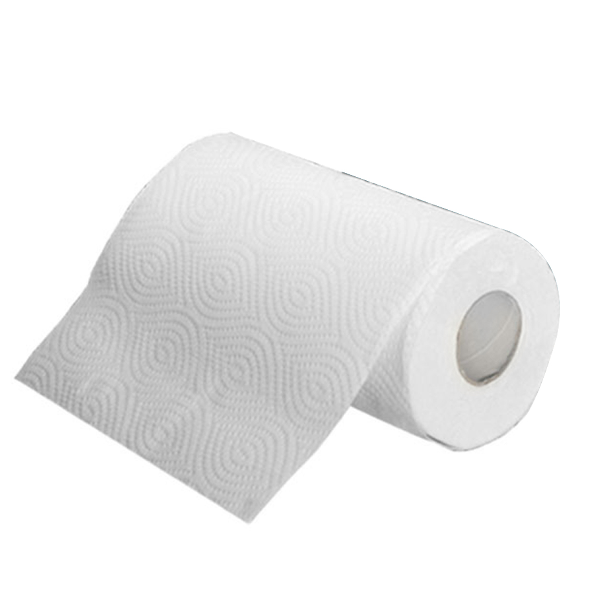 2 Roll Kitchen Paper Towels Thickened Design Water Oil Absorbent Roll Toilet Paper 2-Ply 75 Sheets Per Roll Wood Pulp Paper