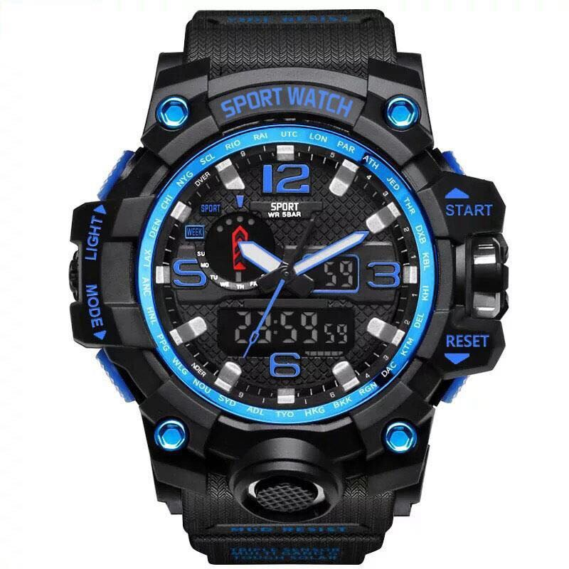 Tide G Men Shock Watch New Outdoor Fitness Mens Digital Electronic Wristwatches Male Chronograph Shockproof Waterproof Stopwatch