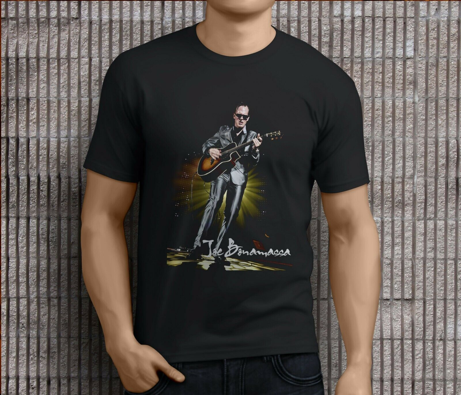 New Popular JOE BONAMASSA BLUES GUITARIST LEGEND Men's Black T-Shirts S-3XL T Shirt Men Print image