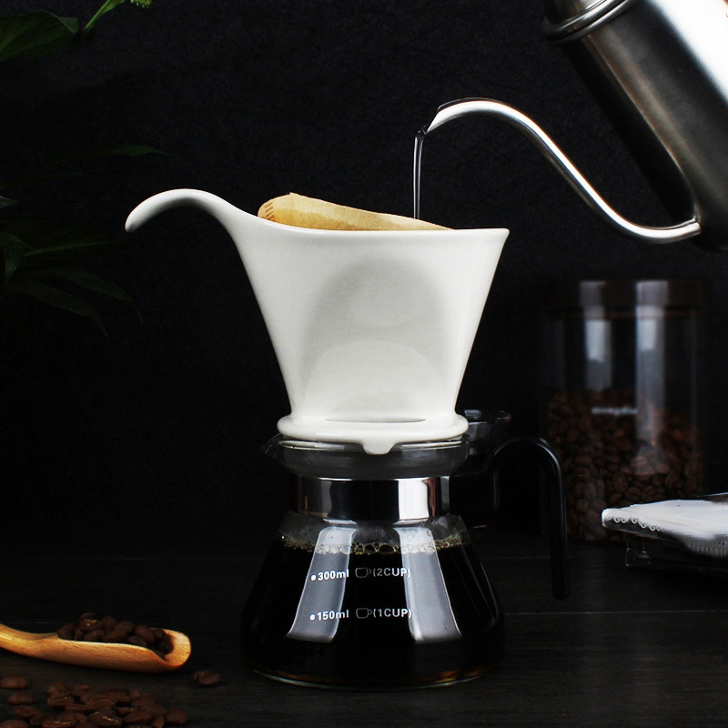 Ceramic Coffee Cup Espresso Coffee Cup Origami Filter Cups V60 Funnel Drip Hand Cup Filters Coffee Cup title=