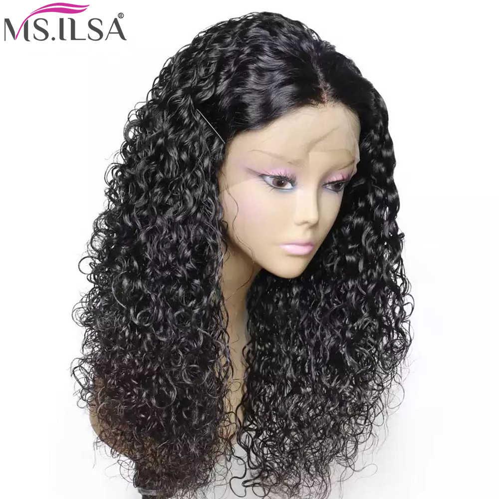 Pelucas de pelo humano rizadas brasileñas 13x4 para mujeres negras pelucas de cabello humano frontal de encaje Pre desplumado pelucas frontales de encaje con cabello de bebé Remy