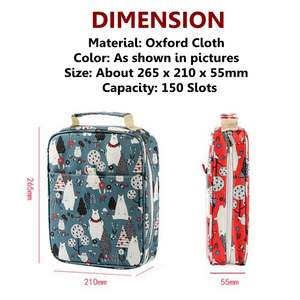 Image 5 - 150 Slots Cute Cartoon Animal Pencil Bag Large Capacity Pen Case Storage Students Box Drawing Painting Tool Pouch Art Supplies