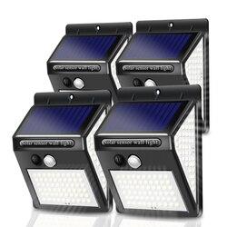 Уличная Светодиодная лампа на солнечной батарее с датчиком движения, 100-150 светодисветодиодный Дов