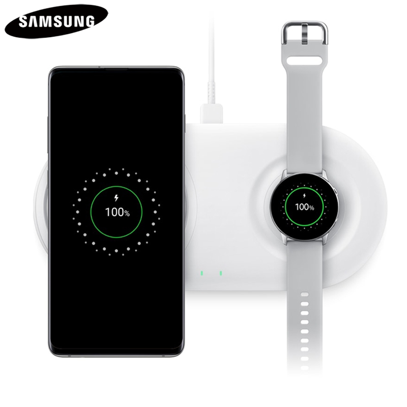 Original QI Fast wireless Charger EP P5200 Duo Pad for Samsung Galaxy Watch S10e S10Plus Note9 S7Edge S9 S8 Gift 25W Fast Wall in Mobile Phone Chargers from Cellphones Telecommunications