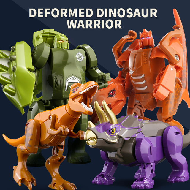 Dinosaurs Transform Robot Jurassic Park Action Figures Toys for Boy Assemble Children Toy 6 to 10 Years Educational 1