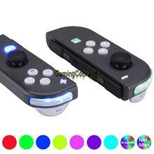 לבן NS Joycon DFS LED ערכת רב צבעים Luminated סימנים קלאסיים ABXY הדק כפתורי פנים עבור NS מתג JoyCon