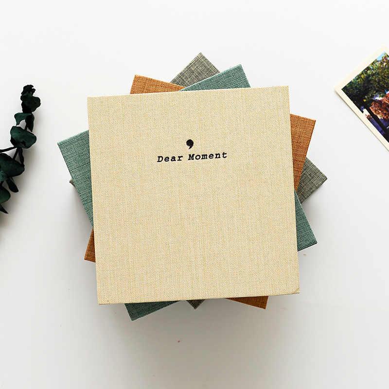 Fiber Cover Two Size Standard 3 Inch  5 Inch Photo Album MINI Photographic Paper Family Memory Record Souvenir  Foto Album Gifts