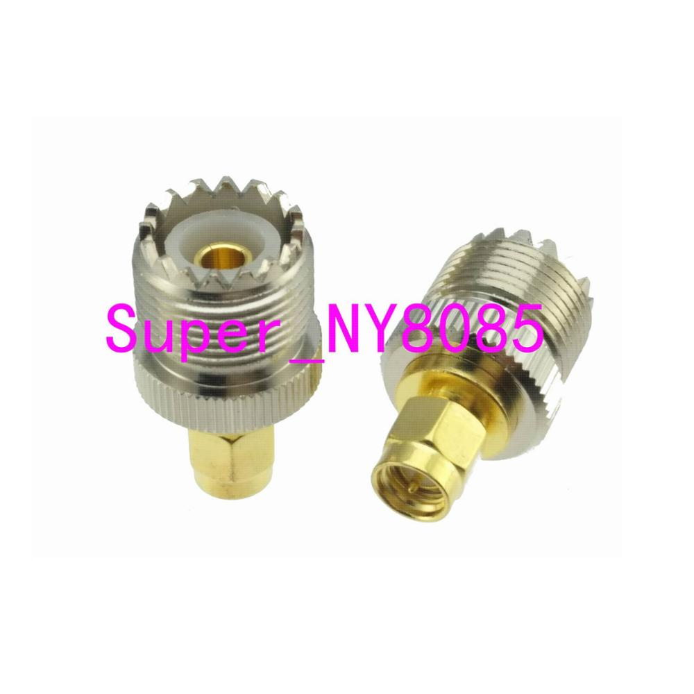 UHF Female SO-239 SO239 Jack To SMA Male Plug RF Adapter Connector