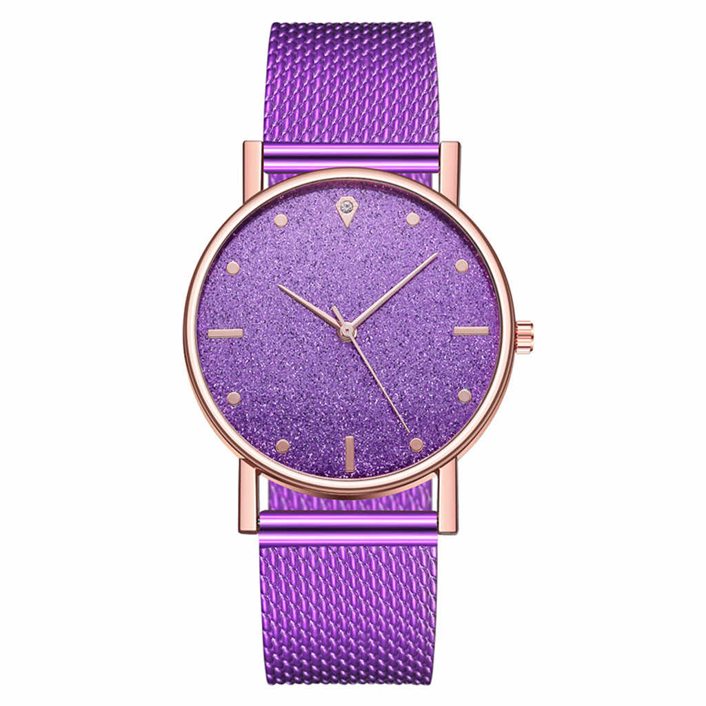 Cusual Damen Uhr Romantische Sternen Himmel Dial frauen Quarz Armbanduhr Mode Mesh Uhr Geschenk Uhr Droshipping Reloj Mujer #50