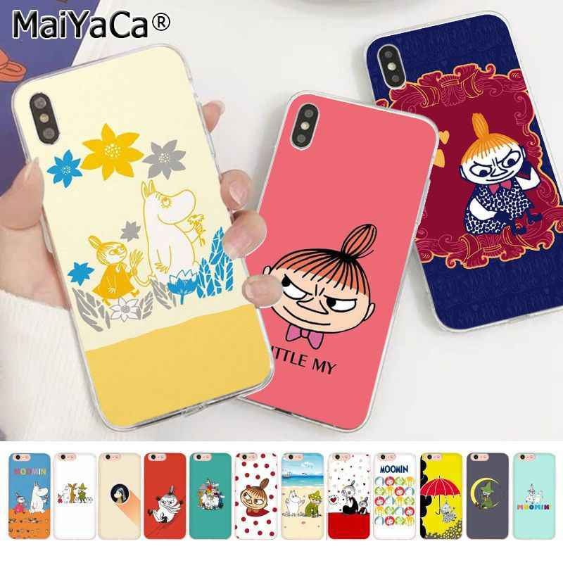 MaiYaCa Funny Moomin Little My Coque Shell Phone Case for Apple iphone 11 pro 8 7 66S Plus X XS MAX 5S SE XR cover Coque Shell