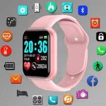Smartwatch esportivo digital, relógio de pulso eletrônico com led, bluetooth, fitness, para mulheres e homens