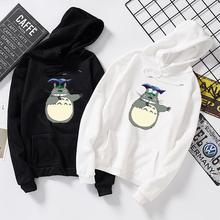 Japoński Anime Studio Ghibli bluza z kapturem Totoro bluzy z kapturem bluzy z kapturem kobiety mężczyźni dziecko Harajuku bluza z kapturem spirited away bluza z kapturem mężczyzna tanie tanio KEEVICI Poliester Swetry Na co dzień Suknem Hoodies Cartoon REGULAR Pełna