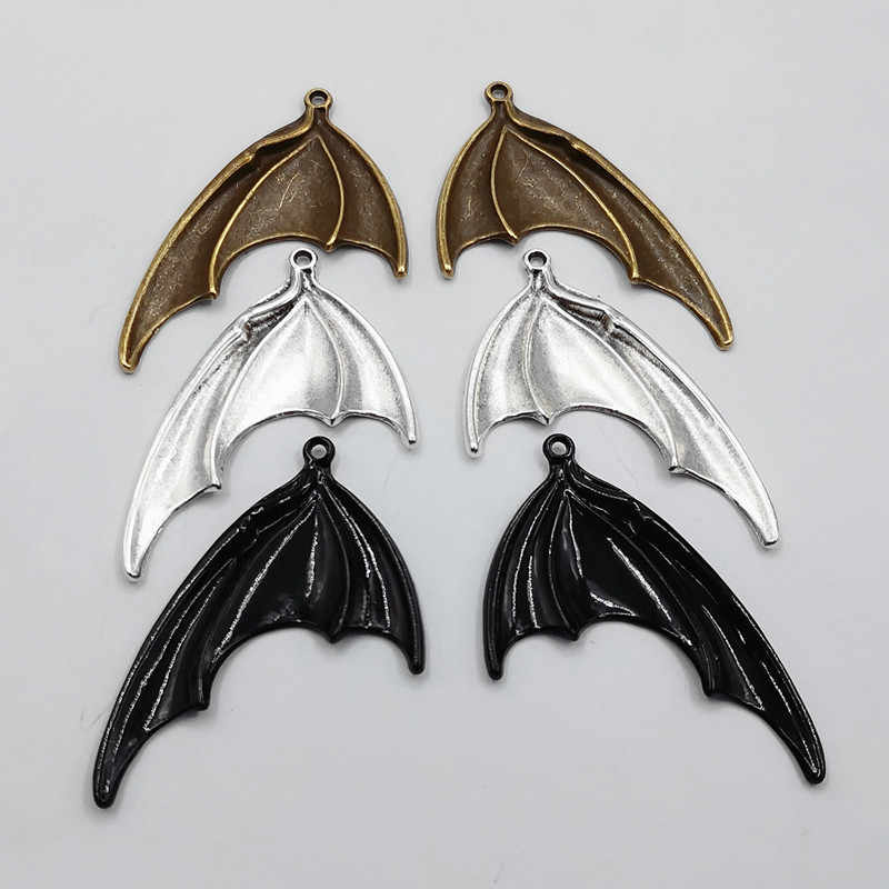 6pcs(3 pairs) Bat Wings Charms,Wings charm, Antique Making Pendant fit,Jewelry Making ,DIY Findings Handmade Jewelry