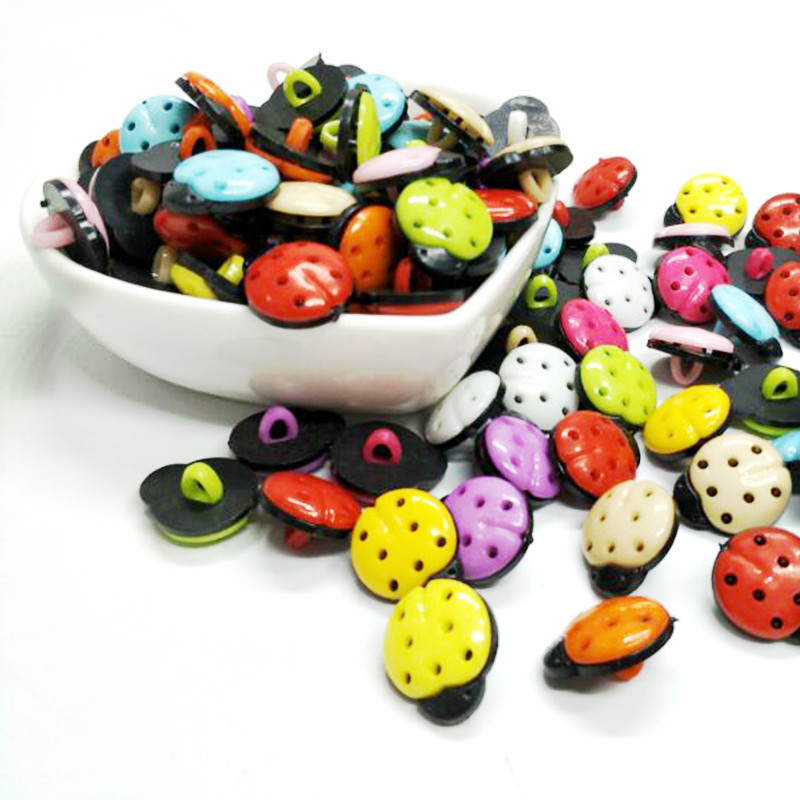 HL 50pcs / 150pcs Mezcla de colores 15mmx12mm Escarabajo Vástago - Artes, artesanía y costura - foto 2