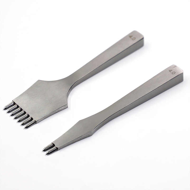 High Quality Leather Die-steel Chisel French Style Pricking Sharp Leather Punching Tool Polish-3.0/3.38/3.85mm Stitching Tool
