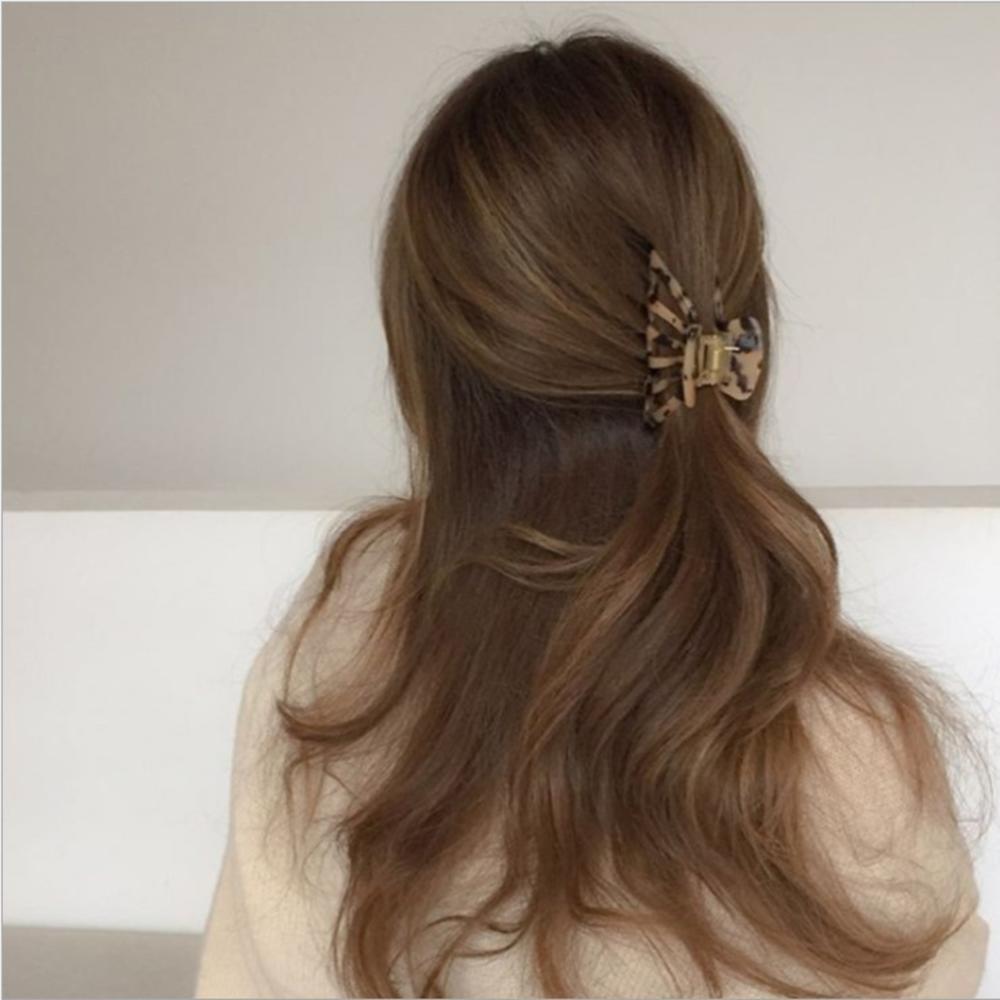 Details about  /Concise Atmosphere Rectangular Disc Hair Clip Korean Elegant Ins Hair Clip