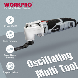 WORKPRO Oscillating Multi-Tool Multifunction Power Tools Home Renovator Tool DIY Woodworking Tool With Accessory Kit
