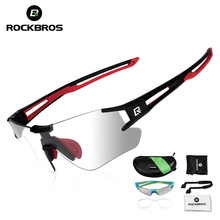 ROCKBROS Photochromic Cycling Glasses Bicycle Glasses Sports Men's Sung